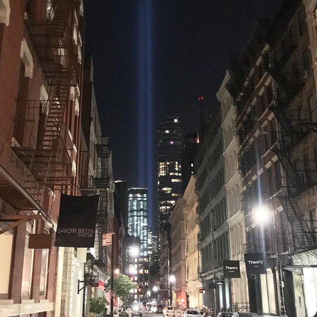 9/11 Memorial from #Soho. #NYC