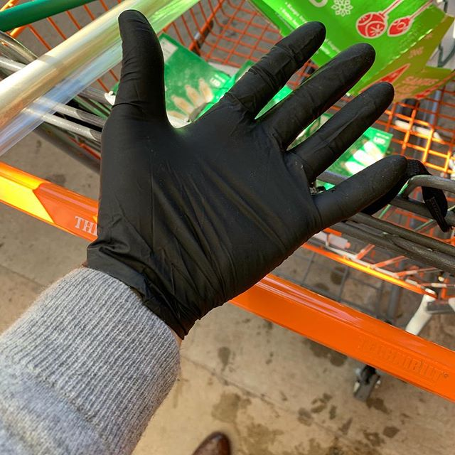 Whipping out rubber gloves at the Christmas Tree lot will keep your hands clean. It will also get your car checked for dead bodies.