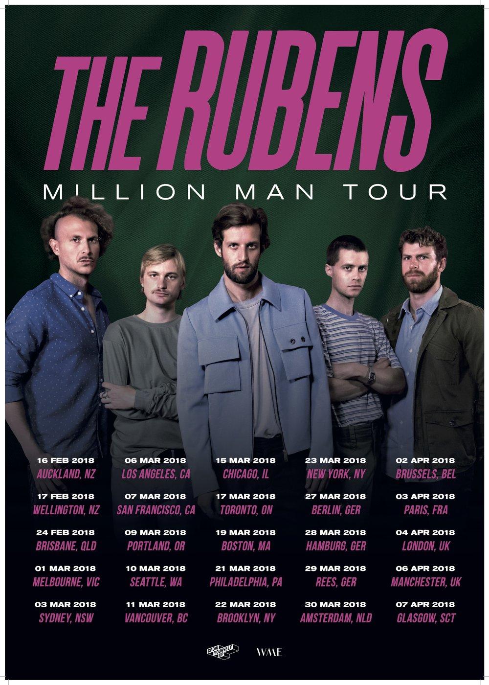 The Rubens - Million Man Tour - A2 Cafe Poster - 02 (International).jpg
