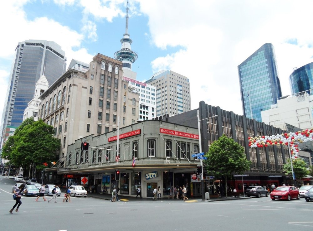 Smith and Caughey's Queen Street store and building – the corner of Queen Street and Wellesley Street in Auckland CBD