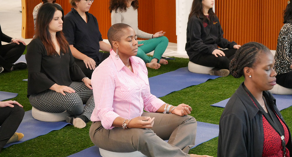 Morning Meditation - During this 20-minute session, you will be led through a series of gentle movements and breathing & meditation practices designed to relax your body, restore your energy and reboot your mind. Leave feeling refreshed and renewed; Ready to take on the afternoon with focus and stamina. All levels are welcome and the meditation averse are encouraged to give this accessible and potent class a try!