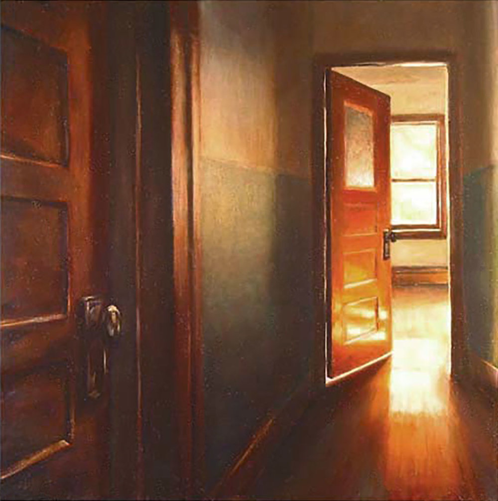 Two Doors   2003  Oil on canvas  20 x 20 inches