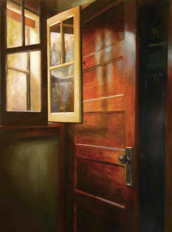 Window and Door   2003  Oil on canvas  40 x 30 inches