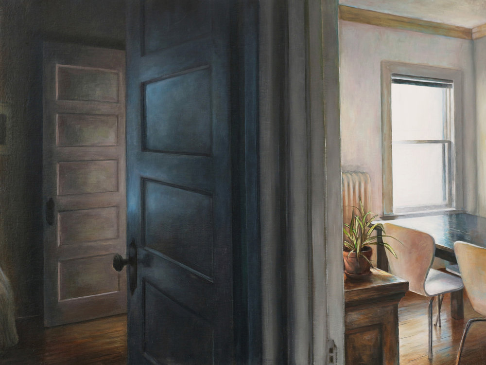 Two Rooms   2017  Oil on linen  16 x 20 inches