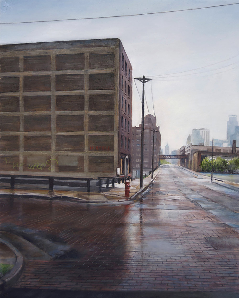 North 3rd Street at North 8th     Avenue, Minneapolis   2014  Oil on panel  10 x 8 inches