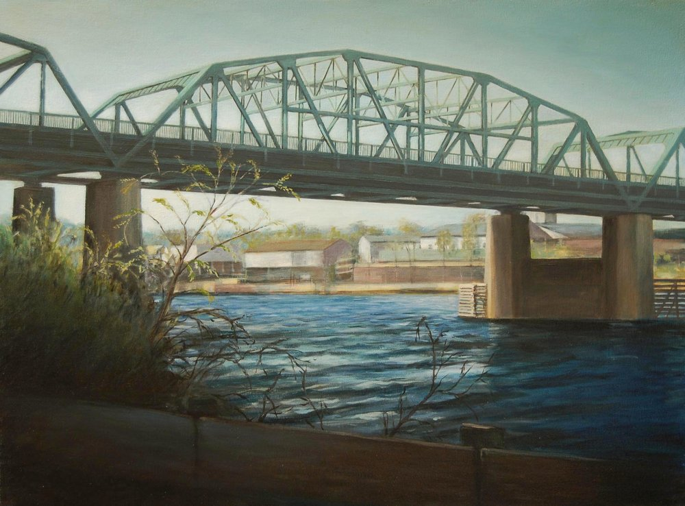 Lowry Avenue Bridge,    Minneapolis   2008  Oil on canvas  18 x 24 inches