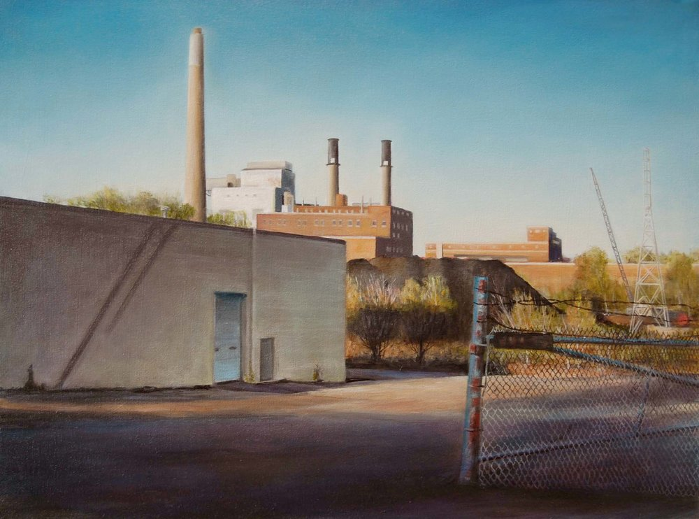 Riverside Power Station,    Minneapolis   2008  Oil on canvas  18 x 24 inches