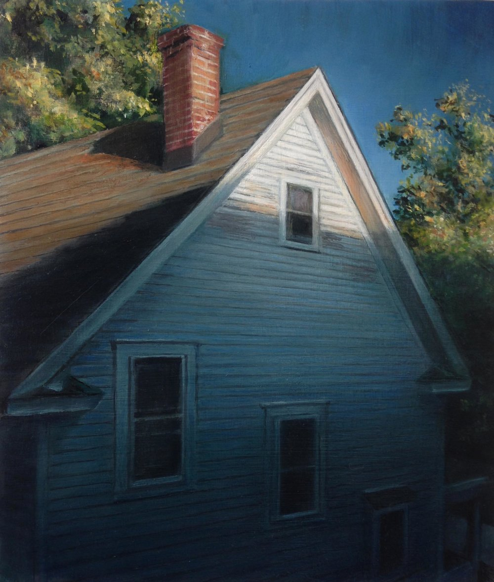 House Next Door   2017  Oil on linen  7 x 6 inches