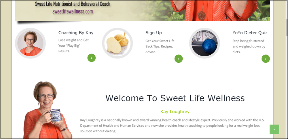 WordPress design & Development: Health & Wellness Coach