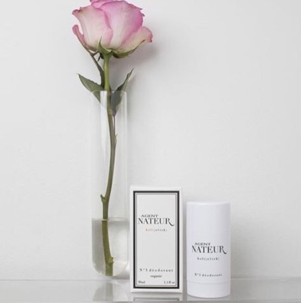 "h o l i ( s t i c k ) N°3 d e o d o r a n t As Seen In: VOGUE, Well+GOOD, InStyle Magazine + More ""HANDS DOWN...THE BEST NATURAL DEODORANT ON THE MARKET"" - VOGUE.COM This large h o l i ( s t i c k ) deodorant will keep you smelling lovely well into the evening hours with a light trace of honey, lavender and eucalyptus.  AGENT NATEUR N ° 3  d e o d o r a n t  is formulated with only the finest ingredients including organic cocounut oil, beeswax, sodium bicarbonate, avocado butter, sunflower butter, castor oil, raw organic honey and healing essential oils. The fragrance is beautiful and most importantly, AGENT NATEUR N°3  d e o d o r a n t  WORKS!"