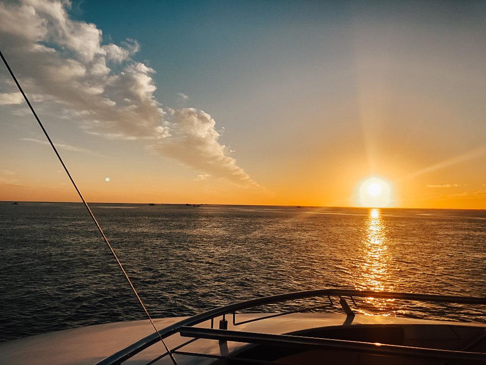 Sunset on the yacht!