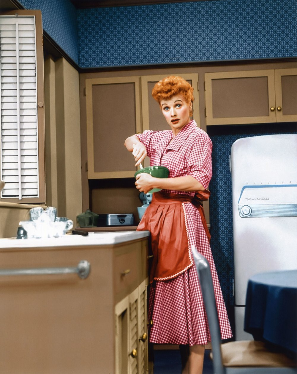 On the set of  I Love Lucy