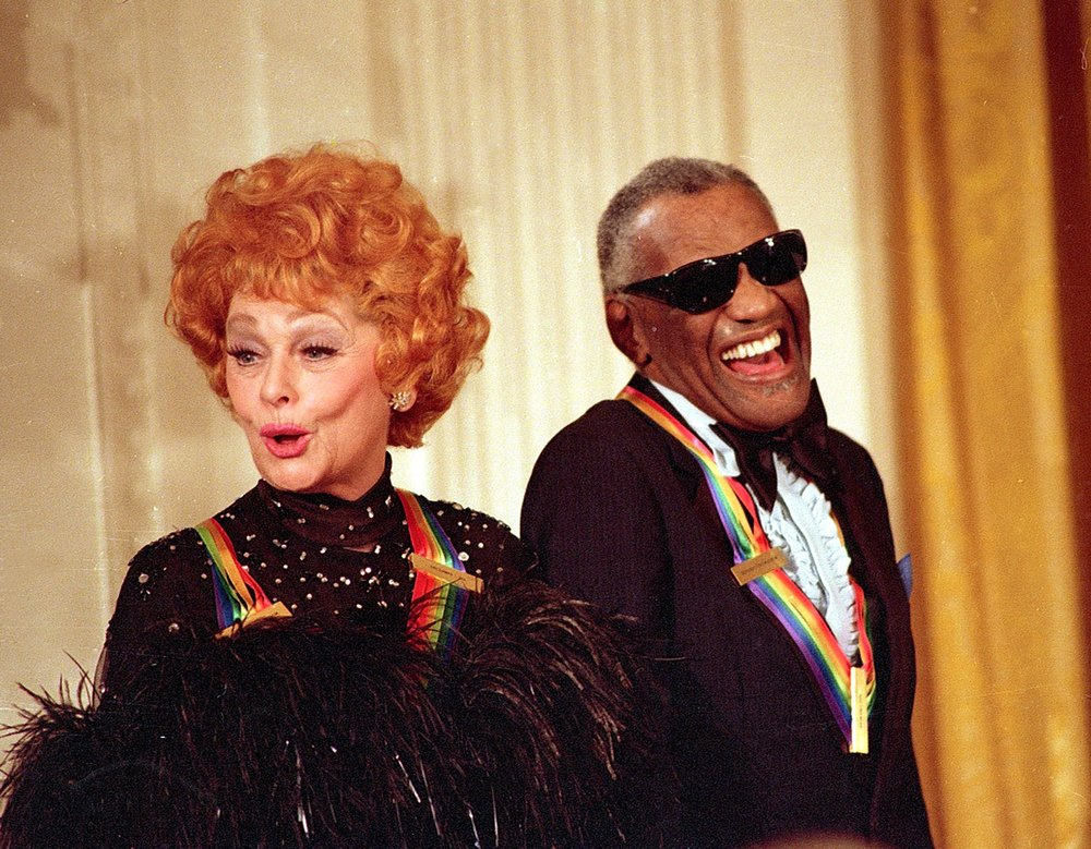 With Ray Charles at the Kennedy Center Honors in 1986. Photo: AP