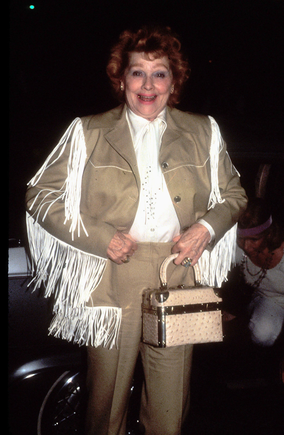 1981 (In the best fringe jacket I have ever seen.) Photo: Getty Images