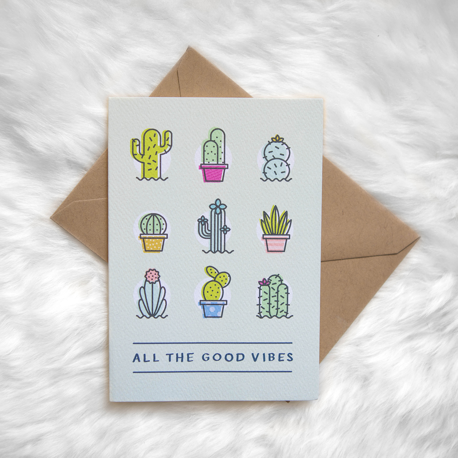 All products tiny treehouse co greeting cards art prints cactus plant lady good vibes texas greeting cards m4hsunfo