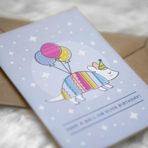 All products tiny treehouse co greeting cards art prints cute texas armadillo pun birthday greeting card eco bookmarktalkfo Gallery
