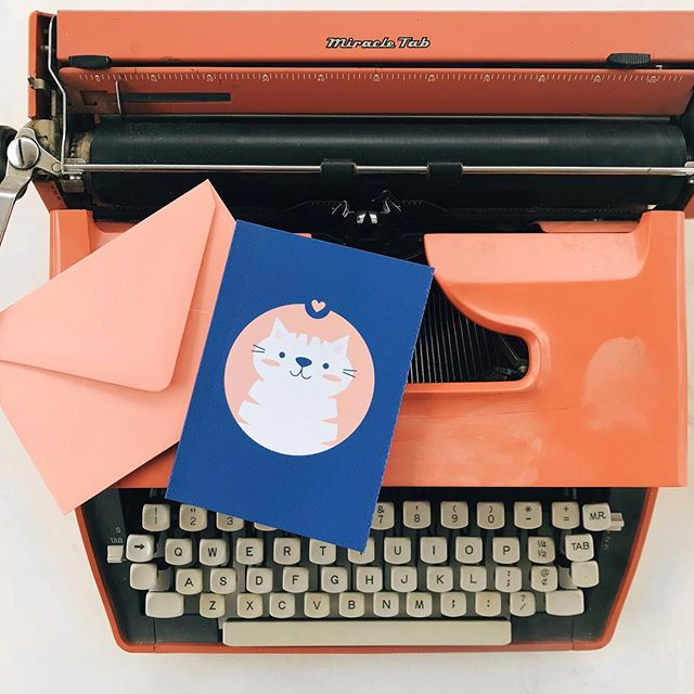 Happy Galentine's Day! Friends make the world go round. To all my favorite ladies, thank you for being so magical. 💖 . . . . . #sendmoremail #galentines #papercraft #typewriter #catloverclub