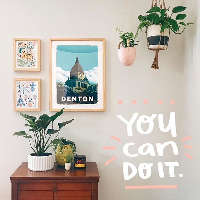 Have a mile-long to do list? You got this. Here's a little happy corner full of work from friends and plants. 💖
