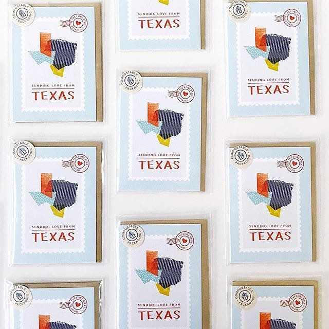 I adore this photo from one of my lovely stockists, @thepapercraftpantry! These little Texas cards are part of your loot if you sign up for their summer craft camp on July 29! ✨