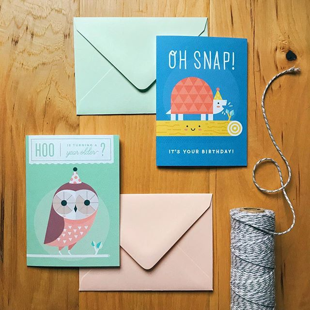 ✨ GIVEAWAY! ✨ I just picked up the first run of my new cards from my favorite family owned print shop, and I'm finally starting to feel ready for this weekend's @dimehandmadeharvest! Tag a friend and tell me what animal you'd like to see in a party hat next for a chance to win two free tickets to the show (and these two cards!). I'll announce the winner tomorrow at noon! 😊 . . . . . #dentonmakes #stationeryaddict #paperlove #stationery #giveaway
