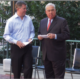 FOSEL president Glyn Polson and Mayor Thomas Menino
