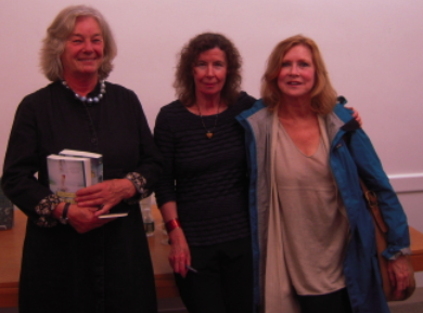 FOSEL founding president Marleen Nienhuis and novelists Margot Livesey and Sue Miller