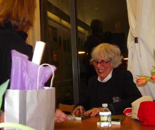 Local author Lynne Potts signing books