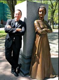 Joe Gallo, Next to the Women's Memorial Pedestal