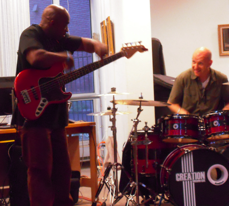 Joe Sumrell and drummer Zeke Martin