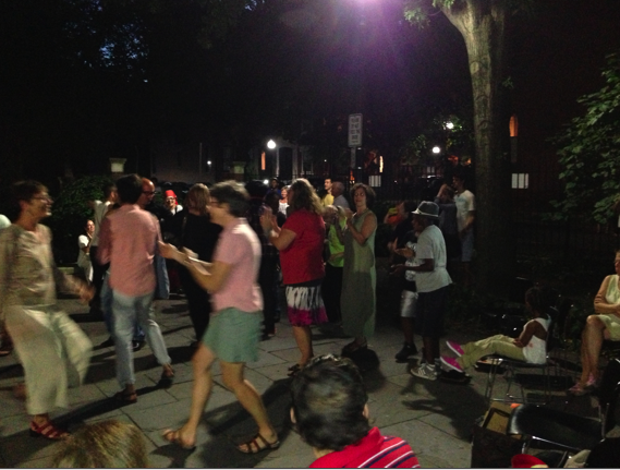 Dancing with WeJazzUp in Library Park