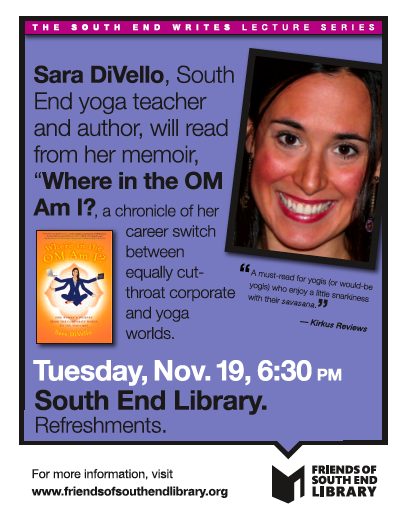 Sara DiVello Reads at South End Writes November 19