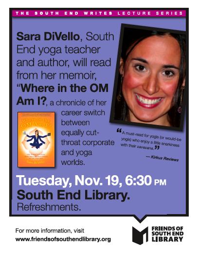 Sara DiVello Reads at South End Writes November 19