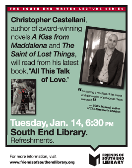 Chris Castellani to Read at the South End Library