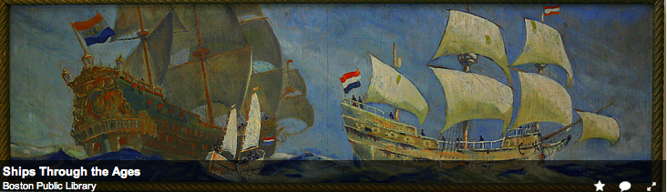 One of the Murals by Frederic Leonard King's Ships through the Ages