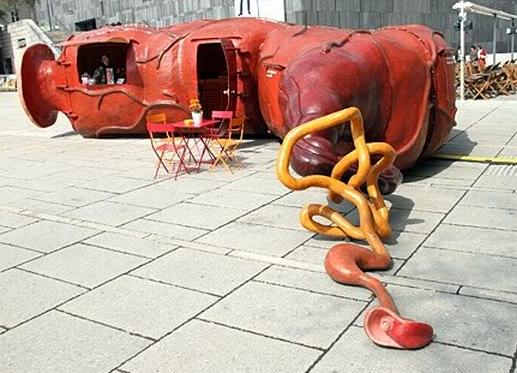 The Rectum Bar public art installation in Vienna, Austria, 2010