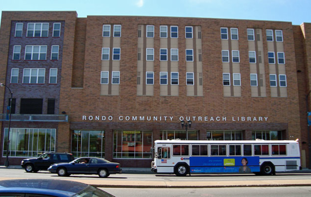 St Paul's (MI) Rondo Outreach Library branch building includes 98 affordable apartments