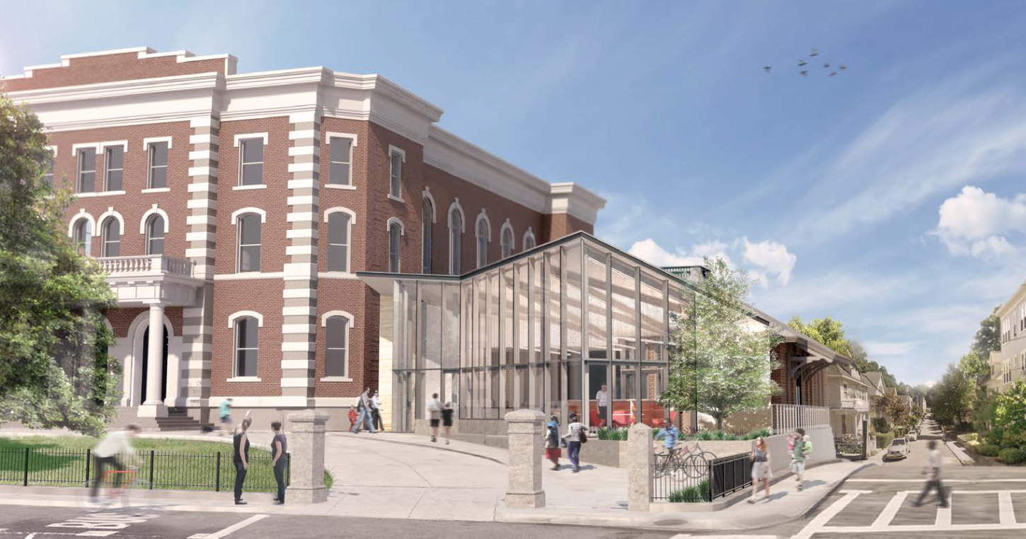 The Utile architects' design of the new Jamaica Plains branch, to reopen sometime in 2017