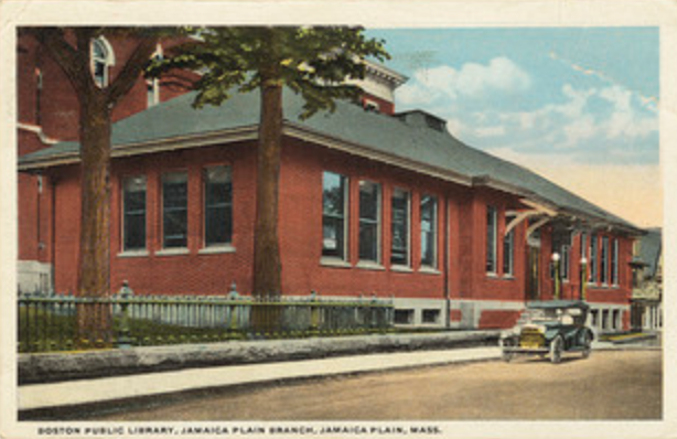 The Jamaica Plains branch as it was built in 1909