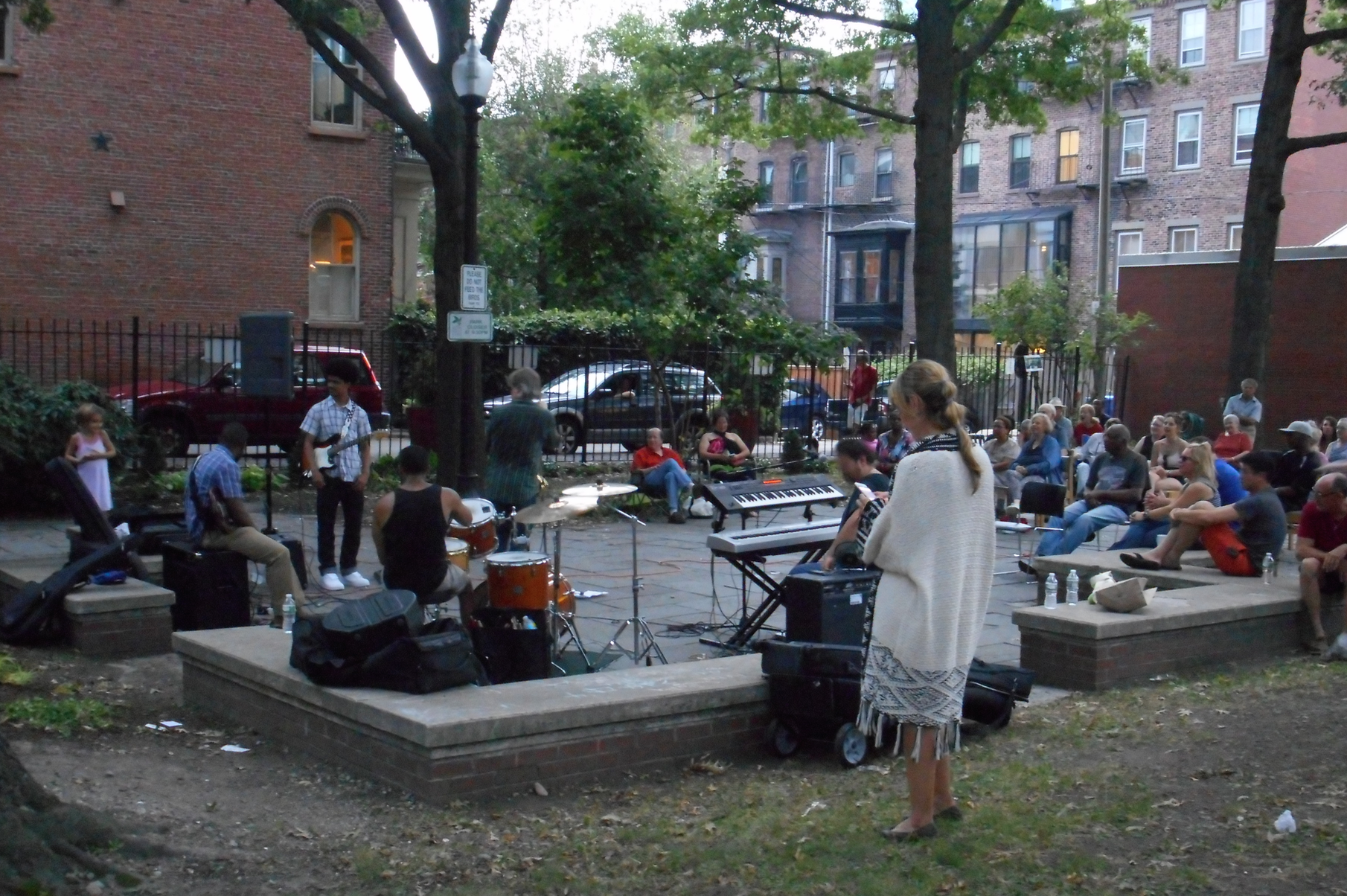 August 18, 2015 with Pat Loomis in Library Park