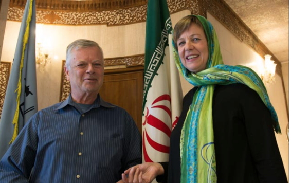 Stephen and marianne A. Kinzer in Iran, 2015
