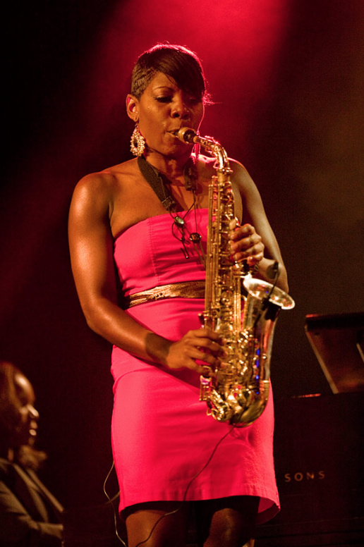 Award-winning Alto Saxophone Player and Special Guest at the Dec 15 Holiday party, Tia Fuller