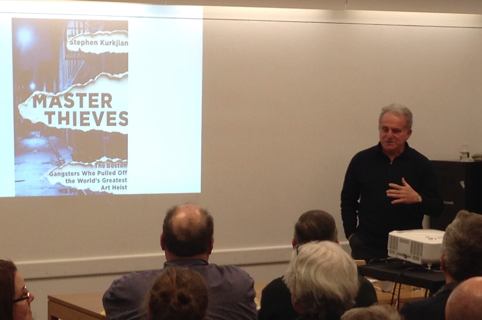 Stephen Kurkjian discussing his book, Master Thieves: The Boston Gangsters Who Pulled Off the Greatest Art heist in the World.