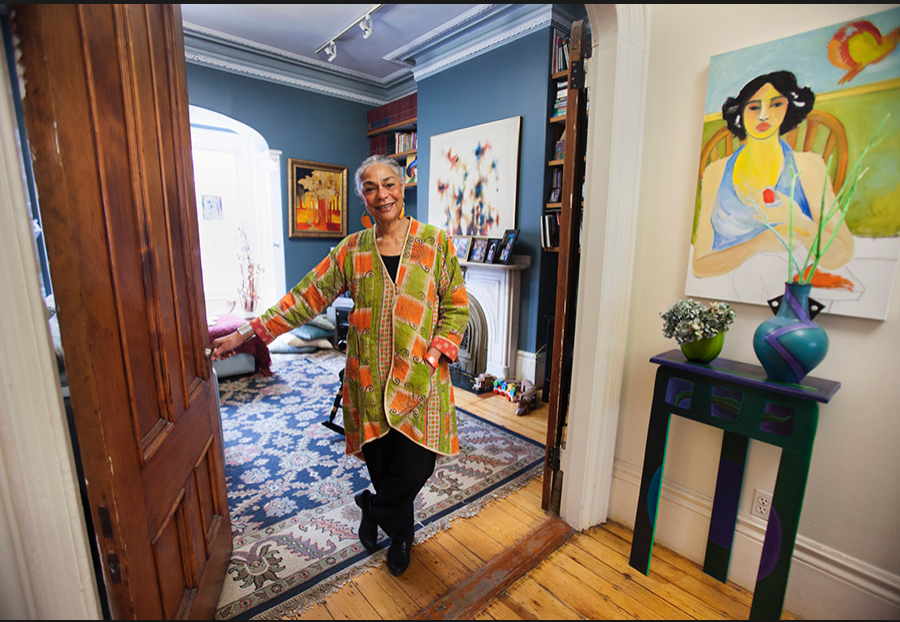 Sara Lawrence-Lightfoot at her home in the South End