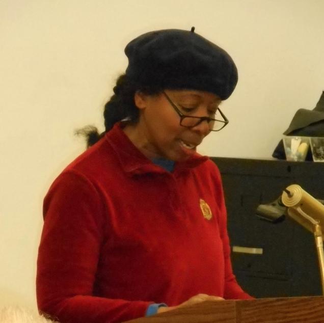 FOSEL board member Kim Clark introducing Professor Sara Lawrence Lightfoot