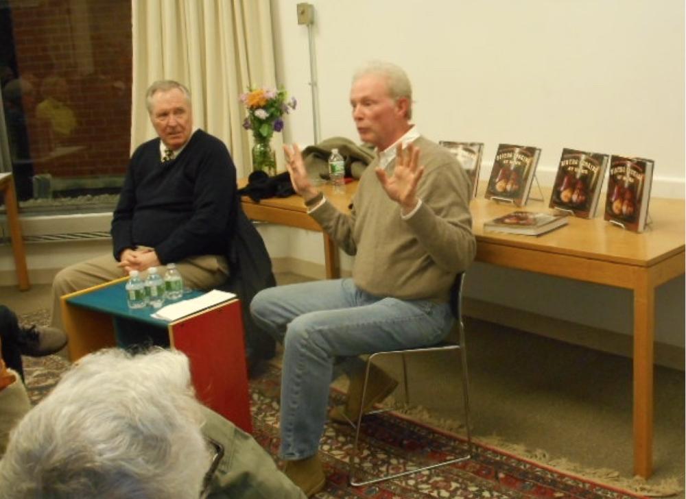 Gordon Hamersley describing hosting President Obama at Hamersley's Bistro while his friend, Ron Geddes, listens