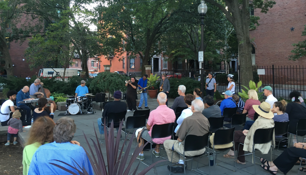2016 Summer Jazz and Blues concerts with Pat Loomis and his Friends in Library Park