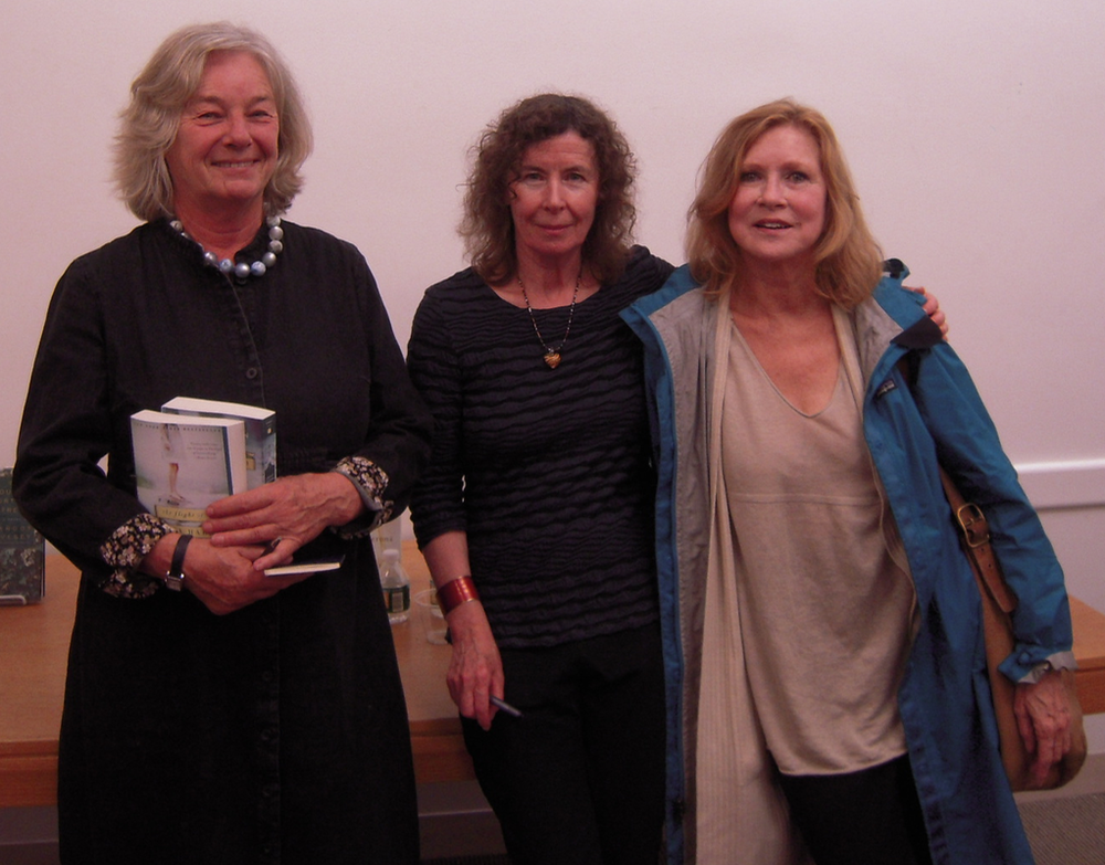 FOSEL president Marleen Nienhuis, author Margot Livesey and novelist Sue Miller