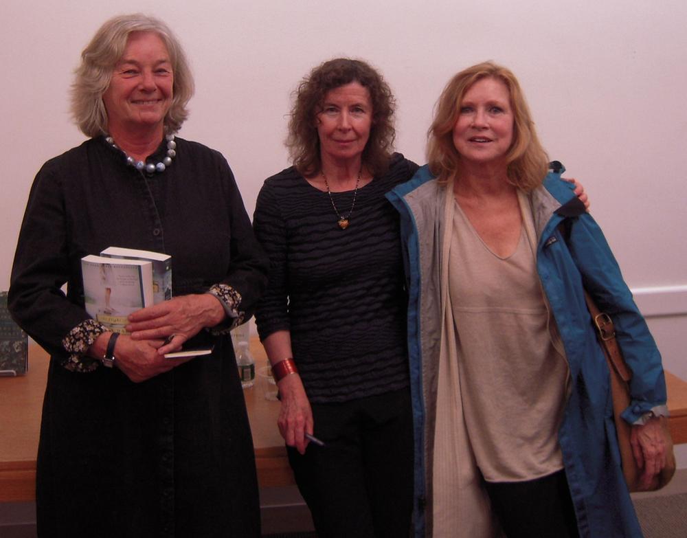 FOSEL president Marleen Nienhuis, author Margot Livesey and novelist Sue Miller