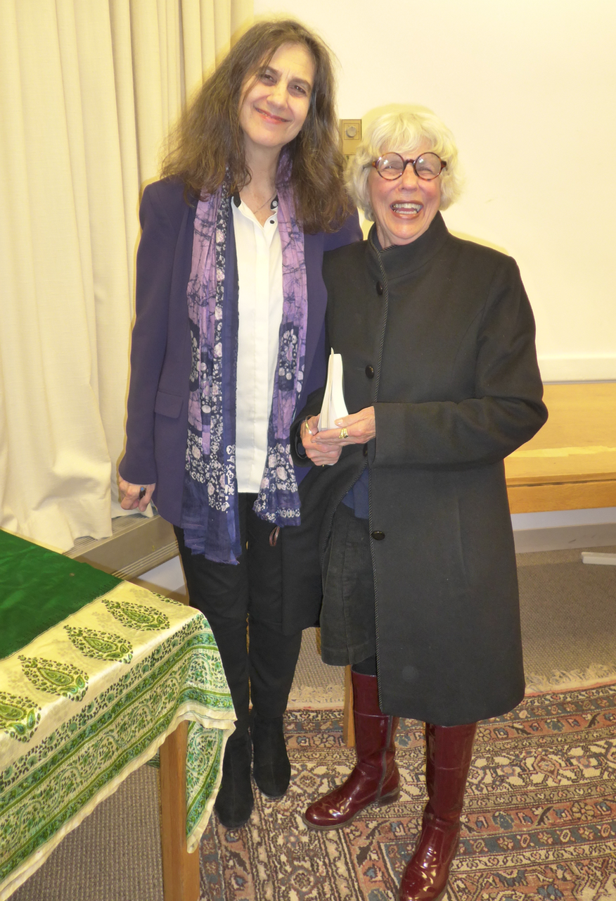 Author Jessica Keener (left) with Lynne Potts, poet and South End history scribe