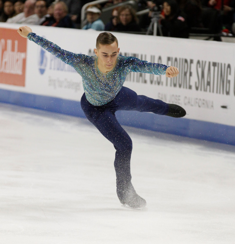 American Figure skater Adam Rippon. Credit:    Jim Gensheimer/Bay Area News Group.